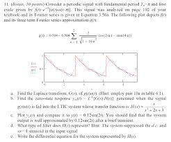 consider a periodic signal with fundamental period chegg com