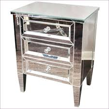 Small Nightstand Table Bedroom Marvelous Mirrored 2 Drawer Side Table Small Nightstand