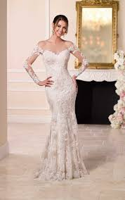 wedding dress sle sale london wedding dresses with illusion lace sleeves stella york