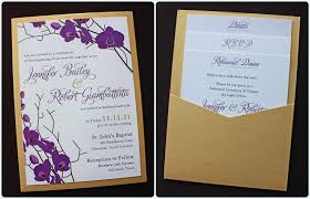purple and gold wedding invitations wedding invitation card purple fresh purple gold orchid clutch
