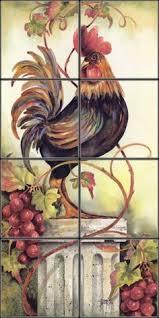 gold rooster kitchen backsplash tile murals ideas for my new