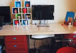 Kid Computer Desk Diy Computer Desk Station Onecreativemommy