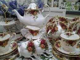 country roses tea set lovely treasures from garden