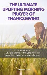 the ultimate uplifting prayer of thanksgiving