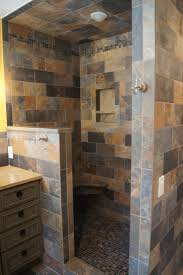 Concept Design For Tiled Shower Ideas Delightful Open Shower Ideas House Baby Food Small Doorless