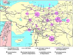 Location Of The Ottoman Empire by Map Of The 1915 Armenian Genocide In The Turkish Empire