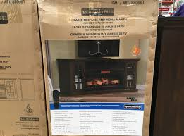 tresanti chimneyfree infrared fireplace and media mantel costco
