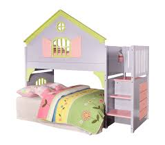 donco kids donco kids twin doll house loft bed with staircase