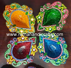 handicrafts for home decoration colorful decorated diya packed home decor indian diwali decoration