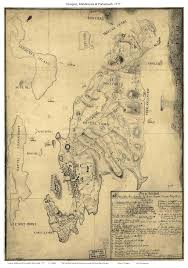 Colonial Map Ri Newport Colonial Maps