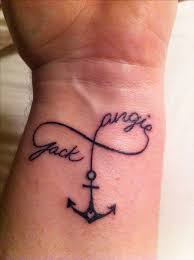 anchor tattoos with names image result for anchor tattoo with
