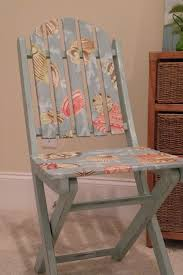 Refurbished Chairs A Pretty Way To Paint An Chair Or You Could Decoupage It