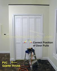 Closet Door Pulls Closet Bifold Closet Door Pulls How To Install A Bi Fold Closet