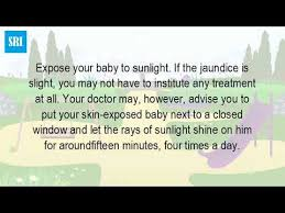 how should a baby with jaundice be in the sun