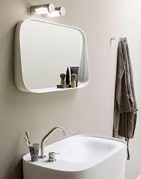 Wall Mounted Bathroom Mirror Wall Mounted Bathroom Mirror With Shelf Contemporary