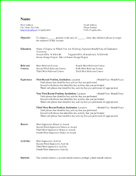 Simple Resume Templates Basic Resume Template Word Resume Example