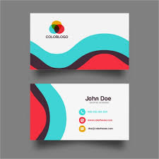 card design colorful wave business card design vector free