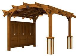 12x12 u0027 redwood sonoma wood pergola kit pergolas pergolas