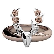 cute jewelry rings images Deer antler ring vintage cute big statement two tone jpg