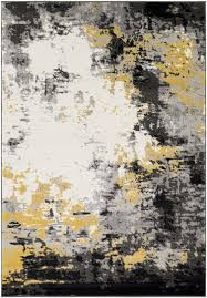 Charcoal Gray Area Rug Wrought Studio Shuff Charcoal Mustard Yellow Gray Area Rug
