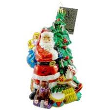 kinkade world santa ornaments set of 3 issue 21