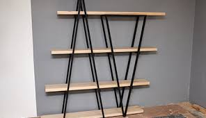 Making Wooden Bookshelves by D I Y Industrial Wooden Bookshelf Bunnings Warehouse