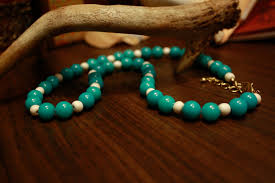 wood beads necklace designs images Impatiens designs turquoise and bleached wood beaded necklace jpeg