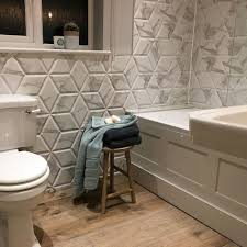 anais white hexagon decor tiles voronoi marble effect hexagon
