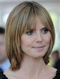 medium short layered hairstyles with bangs cute short layered