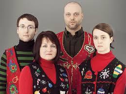 awkward christmas family photo ugliest christmas sweaters