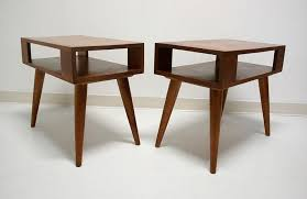 mid century end table conant ball end tables mid century modern