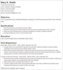 Examples Of Childcare Resumes by Babysitting Resume Samples Babysitting Resume Samples Nanny