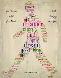 poster you become what you think think happy thoughts