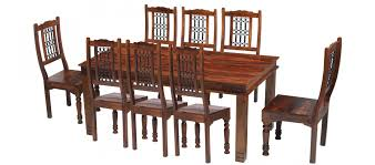 brilliant ideas of jali sheesham 200 cm chunky dining table and 8