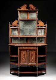Antique Edwardian Display Cabinet 99 Best Etageres Images On Pinterest Marquetry Cabinet And