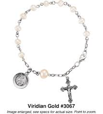 pearl rosary freshwater pearl rosary bracelet with sterling silver 3067