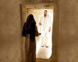 mary speaks with the resurrected christ
