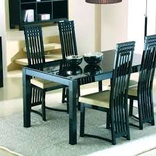 Glass Dining Sets 4 Chairs Astounding Ideas 4 Chair Dining Table Set All Room Chairs Bijou