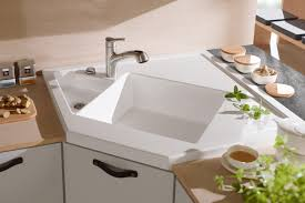 white kitchen sink faucet sinks faucets white top mount acrylic corner kitchen sink single