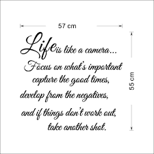 monster writing paper life is like a cameia quotes wall sticker vinyl decal home room getsubject aeproduct getsubject