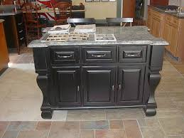 kitchen black wood classy large kitchen island with granite