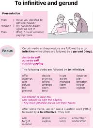 81 best gerund and infinitive images on pinterest english