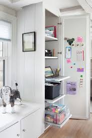 Hidden Home Office Repurposed Kitchen Cabinet Fresh American Style - Kitchen cabinets for home office