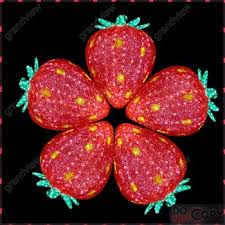 led new years new design fruit strawberry led new year light christmas