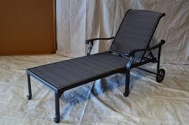 Cast Aluminum Lounge Chairs Santa Clara Outdoor Patio Set 2pc Chaise Lounge Dark Bronze Cast