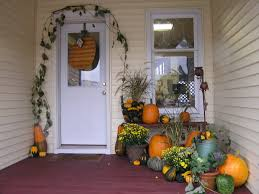 White Front Door Decorations Small White Front Glass Door With Hallowen Theme