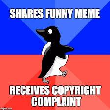 Meme Penguin - meme copyright can you laugh away the copyright law