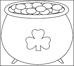 a pot of gold leprechaun coloring pages for kids da2 printable