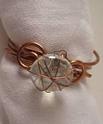 crafted napkin rings table setting ideas wire wrap
