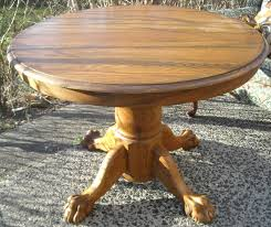 Antique Oak Dining Room Chairs Antique Round Lion U0027s Claw Leg Oak Table U2013 Sold The Long Island